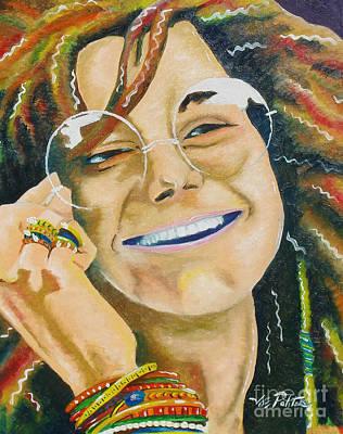 Painting - Janis Joplin  by Joseph Palotas
