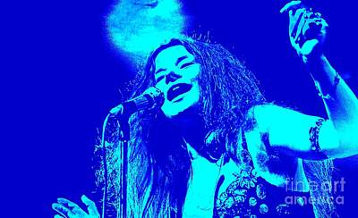 Janis Joplin Under A Blue Moon Print by John Malone