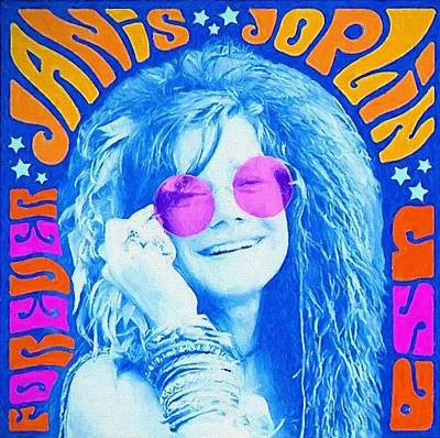Janis Stamp Painting Print by Dan Sproul