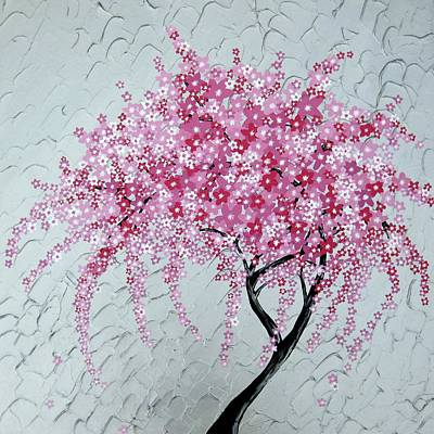 Ipad Design Painting - Japanese Cascade by Cathy Jacobs
