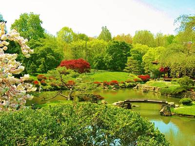 Japanese Garden In Spring Print by Marla McPherson