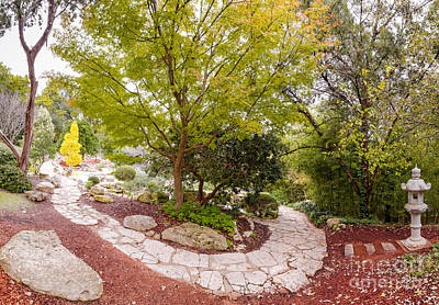 Stone Pathway Photograph - Japanese Garden Serenity At Zilker Botanical Gardens - Austin Texas Hill Country by Silvio Ligutti