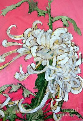 Mums Painting - Japanese Mum by Diane montana Jansson