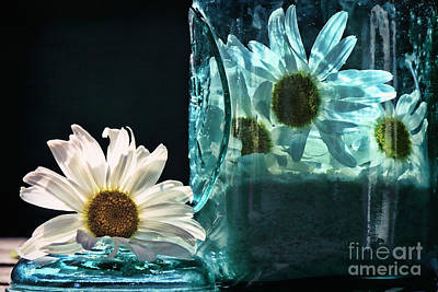Jar Of Daisies Print by Sari Sauls