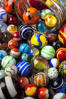 Jar Of Marbles Print by Garry Gay
