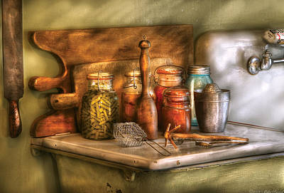 Jars - The Process Of Canning Print by Mike Savad