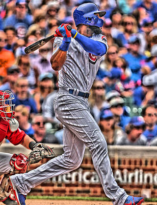 Chicago Cubs Painting - Jason Heyward Chicago Cubs by Joe Hamilton