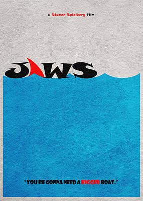 Horror Mixed Media - Jaws by Ayse Deniz