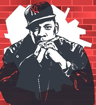 Jay Z Digital Art - Jay Z Graffiti Tribute by Dan Sproul