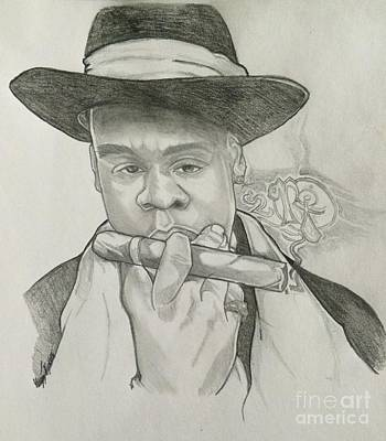 Jay Z Drawing - Jay-z Reasonable Doubt 20th by Gregory Taylor