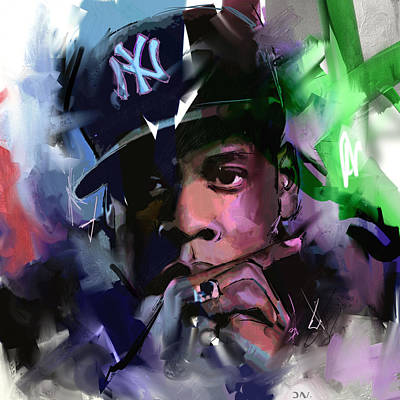 Rapper Painting - Jay Z by Richard Day