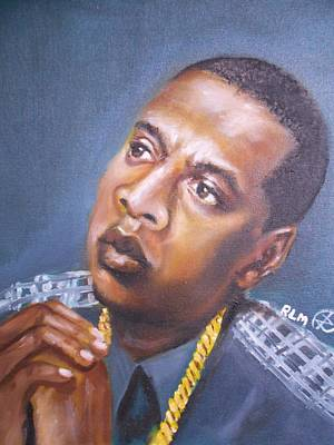Jay Z Painting - Jay-z by Ronnie Melvin
