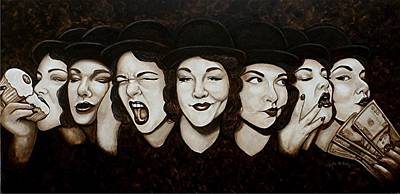 Greed Painting - Jaynie Faces Her Seven Sins by Al  Molina