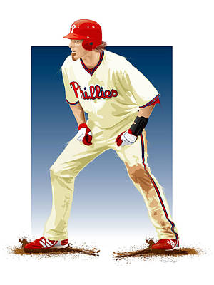 Jayson Werth Print by Scott Weigner