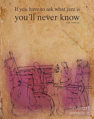 Jazz Band Drawing - Jazz 26 by Pablo Franchi