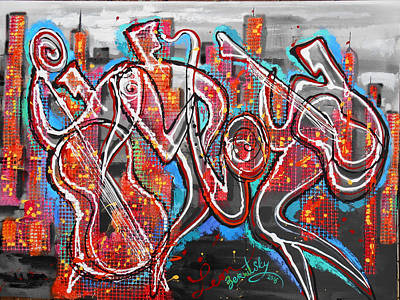 Jazz And The City 2 Original by Leon Zernitsky