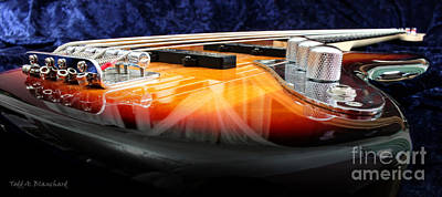 Guitar Photograph - Jazz Bass Beauty by Todd A Blanchard