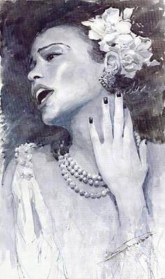 Jazz Billie Holiday Print by Yuriy  Shevchuk