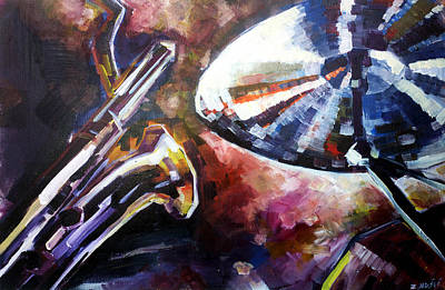 Music Themed Art Painting - Jazz Colors by Zlatko Music