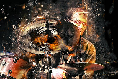 Jazz Drum Player Original by Arthur Babiarz