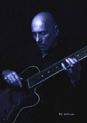 Jazz In Blue Print by RC deWinter