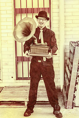 Classic Audio Player Photograph - Jazz Man In The Back Alley by Jorgo Photography - Wall Art Gallery