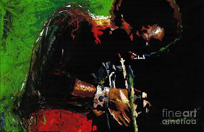 African-american Painting - Jazz Miles Davis 1 by Yuriy  Shevchuk