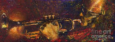 Figurativ Painting - Jazz Miles Davis  by Yuriy  Shevchuk