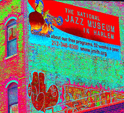 Harlem Digital Art - Jazz Museum by Steven Huszar