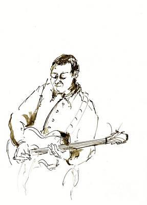 Jazz Musician_2 Print by Karina Plachetka