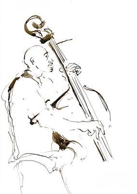Jazz Musician_5 Print by Karina Plachetka