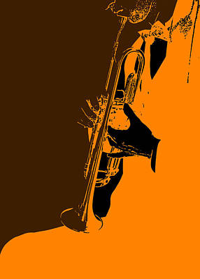 Listening Digital Art - Jazz by Naxart Studio