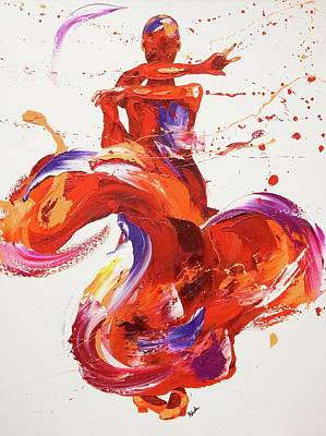 Kinetic Painting - Jazz by Penny Warden