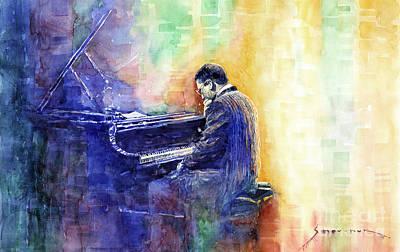 Hancock Painting - Jazz Pianist Herbie Hancock  by Yuriy Shevchuk