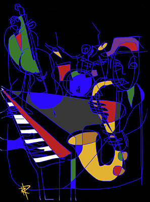 Jazz Quartet Print by Russell Pierce