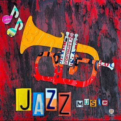 Music Photograph - #jazz #trumpet #original #louisiana by Design Turnpike