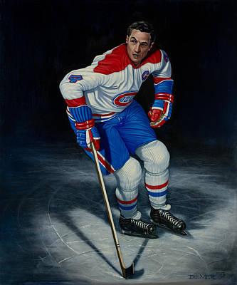 Montreal Canadiens Painting - Jean Beliveau by Keith Diemer