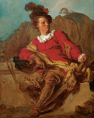 Jean-honore Fragonard Painting - Jean-claude Richard Abbe Of Saint-non by Jean-Honore Fragonard