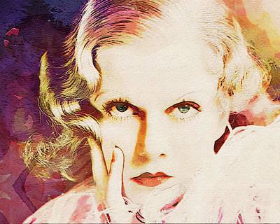 Digital Art - Jean Harlow - Pop Portrait by Darlanne