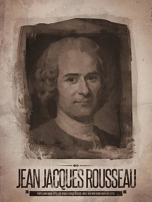 Restaurant Painting - Jean Jacques Rousseau by Afterdarkness