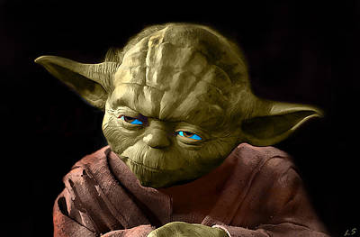Epic Digital Art - Jedi Yoda by Sergey Lukashin
