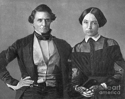 Jefferson Davis And Varina Howell Davis Print by Photo Researchers