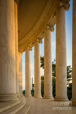 District Of Columbia Photograph - Jefferson Memorial Columns by Inge Johnsson