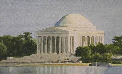 Jefferson Memorial Painting - Jefferson Memorial by Dominic Abela