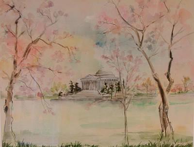 Jefferson Memorial Painting - Jefferson Memorial by Lily Spandorf
