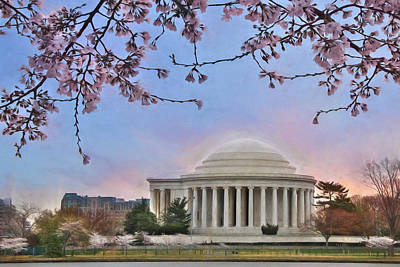 Jefferson Memorial Mixed Media - Jefferson Memorial by Lori Deiter