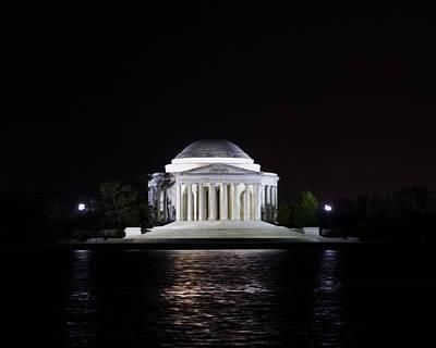 Jefferson Memorial Digital Art - Jefferson Memorial Night by Rebecca Snyder