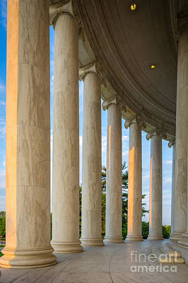 Thomas Jefferson Photograph - Jefferson Memorial Pillars by Inge Johnsson