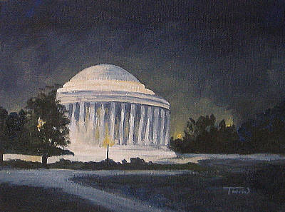 Jefferson Memorial Painting - Jefferson Memorial  by Torrie Smiley