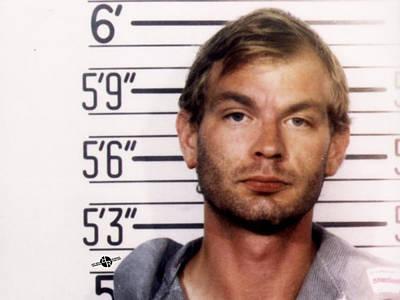 Jail Painting - Jeffrey Dahmer Mug Shot 1991 Horizontal  by Tony Rubino